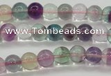 CFL902 15.5 inches 6mm round rainbow fluorite gemstone beads