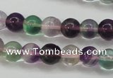 CFL903 15.5 inches 7mm round rainbow fluorite gemstone beads