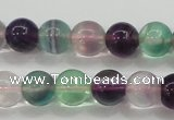 CFL904 15.5 inches 8mm round rainbow fluorite gemstone beads
