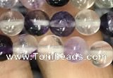 CFL911 15.5 inches 6mm round purple fluorite beads wholesale