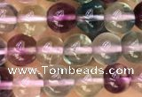 CFL918 15.5 inches 4mm round fluorite gemstone beads