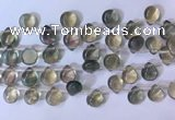 CFL962 Top drilled 9*12mm flat teardrop natural fluorite beads