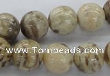 CFS05 15.5 inches 16mm round natural feldspar gemstone beads