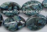 CFS113 15.5 inches 18*25mm oval blue feldspar gemstone beads