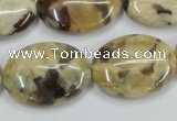 CFS203 15.5 inches 18*25mm oval natural feldspar gemstone beads