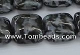 CFS323 15.5 inches 18*18mm square feldspar gemstone beads