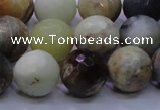 CFW06 15.5 inches 14mm faceted round flower jade beads wholesale