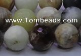 CFW07 15.5 inches 16mm faceted round flower jade beads wholesale