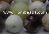 CFW09 15.5 inches 20mm faceted round flower jade beads wholesale