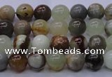 CFW10 15.5 inches 4mm round flower jade beads wholesale