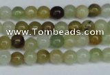CFW101 15.5 inches 6mm round flower jade gemstone beads