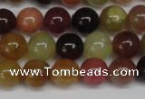 CFW102 15.5 inches 8mm round flower jade gemstone beads