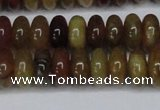 CFW110 15.5 inches 6*12mm rondelle flower jade gemstone beads
