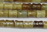 CFW117 15.5 inches 8*10mm bone flower jade gemstone beads