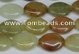 CFW136 15.5 inches 13*18mm marquise flower jade gemstone beads