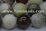 CFW17 15.5 inches 16mm round flower jade beads wholesale