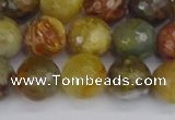CFW213 15.5 inches 10mm faceted round flower jade beads