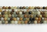 CFW219 15.5 inches 8mm faceted round flower jade beads
