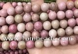 CFW48 15.5 inches 12mm round pink wooden jasper beads wholesale