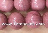 CFW52 15.5 inches 8mm round natural pink wooden jasper beads