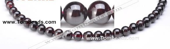 CGA01 8mm round natural garnet gemstone beads Wholesale