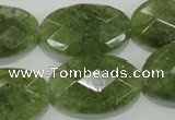 CGA105 15.5 inches 20*30mm faceted oval natural green garnet beads
