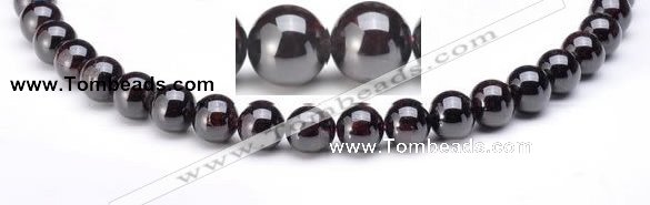 CGA18 6mm round natural garnet gemstone beads Wholesale