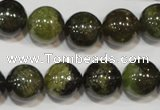 CGA205 15.5 inches 12mm round natural green garnet beads