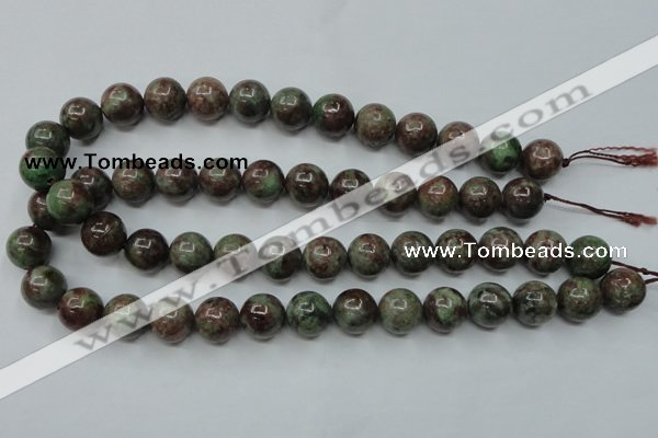 CGA302 15.5 inches 8mm round red green garnet gemstone beads