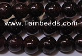 CGA352 14 inches 4mm round natural red garnet beads wholesale