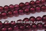 CGA355 15 inches 2mm round natural red garnet beads wholesale