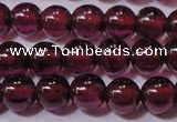 CGA356 15 inches 3mm round natural red garnet beads wholesale
