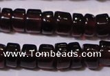 CGA365 15 inches 2*4mm heishi natural red garnet beads wholesale