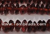 CGA380 15 inches 2*4mm rondelle natural red garnet beads wholesale
