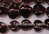 CGA392 15 inches 7*7mm heart natural red garnet beads wholesale