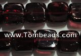 CGA401 15.5 inches 8*8mm square natural red garnet beads wholesale