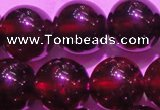 CGA421 15.5 inches 10mm round natural red garnet gemstone beads
