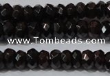 CGA458 15.5 inches 4*6mm faceted rondelle natural red garnet beads