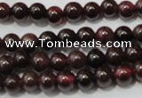 CGA464 15.5 inches 3mm round natural red garnet beads wholesale