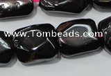 CGA474 15.5 inches 10*14mm � 12*16mm freeform natural red garnet beads