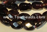CGA479 15.5 inches 6*8mm faceted oval natural red garnet beads