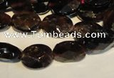 CGA480 15.5 inches 7*9mm faceted oval natural red garnet beads