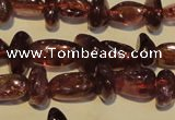 CGA489 15.5 inches 4*8mm � 4*10mm nuggets natural red garnet beads
