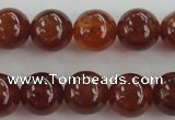 CGA512 15.5 inches 8mm round AA grade yellow red garnet beads