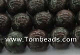 CGA553 15.5 inches 10mm round red green garnet gemstone beads