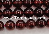 CGA605 15.5 inches 8mm A+ grade round natural orange garnet beads