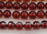 CGA611 15.5 inches 6mm AAA grade round natural orange garnet beads