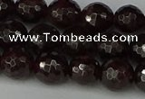 CGA663 15.5 inches 8mm faceted round red garnet beads wholesale