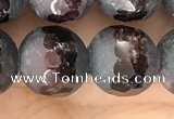 CGA692 15.5 inches 12mm faceted round red garnet beads