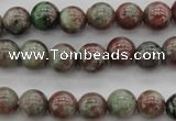 CGA87 15.5 inches 6mm round red green garnet gemstone beads